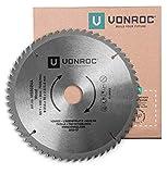VONROC Kappsägeblatt - Gehrungssägeblatt 216 mm - 60 Zähne – für Holz – Universal - Auch für Tischkreissägen