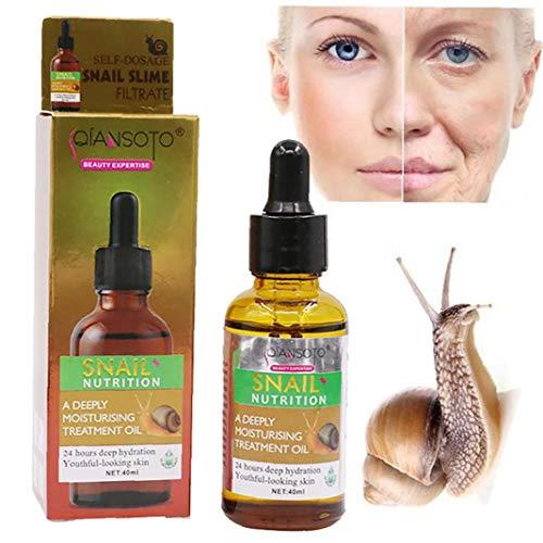 1bouteille avancée Snail réparation Essence Anti-âge Anti rides Sérum Hydratation Crème hydratante visage Snail mucine Essence Huile pour Daily Skin Care (40 ml) Art maquillage