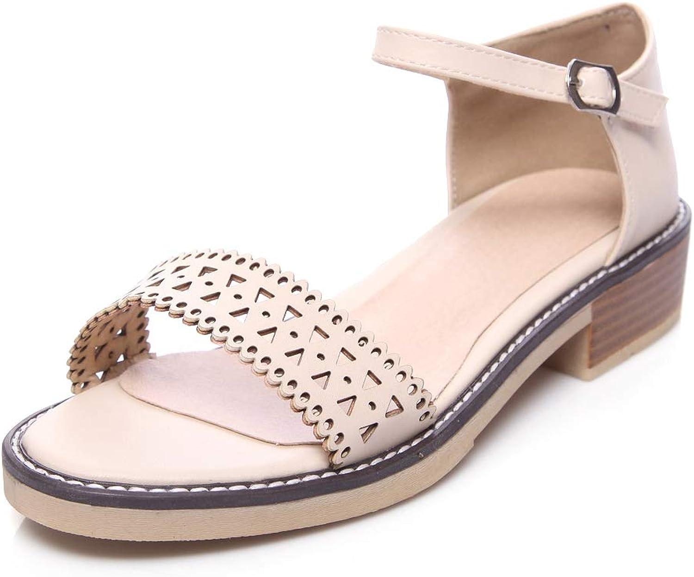 Orktree Women Sandal Low Heel Women's Chunkle Ankle Strap Dress Sandals shoes