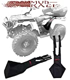 MUD-RAGE 2pc Universal Fit ATV Rear Passenger Foot Rests. Fits Any ATV and Passenger. Made for North American Mud