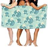 N/A Toallas de Playa Extra Grandes de 80 x 130 cm de Microfibra para Hombres y Mujeres, Ideal para natación, SPA, Viajes, Yoga, Deportes, Camping, Cubierta para bañera, Abstracta Flor