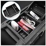 LFOTPP Seat Leon Cupra 5F FR MK3 Apoyabrazos Consola Central Bandeja, Caja de Almacenamiento Organizador coche Interior Accesorios (Negro)