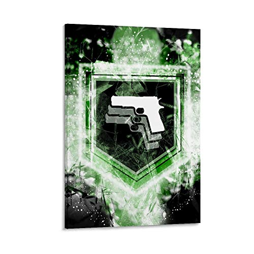 SSKJTC Pictures Arts Craft for Home Wall Decor Gift Call of Duty World at War Mule Kick Zombies Perk Poster Decoración de pared 60 x 90 cm