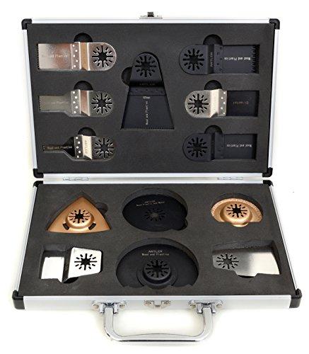 Geweih 13 Klingen Koffer Set für Fein Multimaster Multitalent Einhell Milwaukee Bosch Multitool