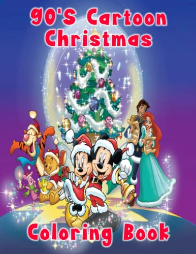 Compare Textbook Prices for 90s Cartoon Christmas Coloring Book: Amazing Gift For Kids and Fans With Many Beautiful, Cute Illustrations To Relax and Stress Relief. It Will Be Fun  ISBN 9798494171481 by Coloring Book, Christmas