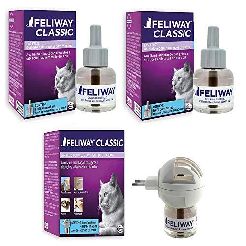 Combo Feliway Classic 1un Difusor com refil + 2un Refil 48ml Extra