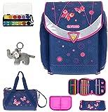 7 Set HERLITZ Flexi Plus Schulranzen Ranzenset Schultasche Mäppchen gefüllt + Sporttasche elk (Butterfly Dreams (09))