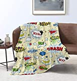 MYSTCOVER Comic Book Explosion Pattern Throw Blanket Super Soft Lightweight Luxurious Cozy Warm Fluffy Plush for Bed Couch Living Room 80'X60'for Adult