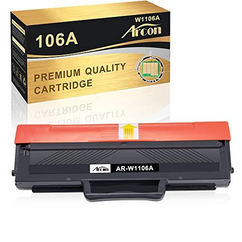 Arcon Kompatibel Toner Cartridge Replacement für HP 106A W1106A (MIT CHIP) für HP Laser MFP 135wg MFP 137fwg MFP 135ag MFP 135w 135a 137fnw 107a 107w 107r Toner (1 Schwarz)