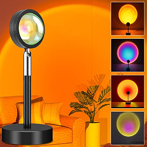 Sunset Lamp, Sunset Projection lamp with 4 Color Changing, 2m USB Cable...