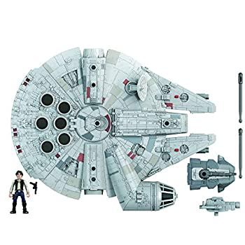 Star Wars Mission Fleet Han Solo Millennium Falcon 2.5-Inch-Scale Figure and Vehicle Toys for Kids Ages 4 and Up