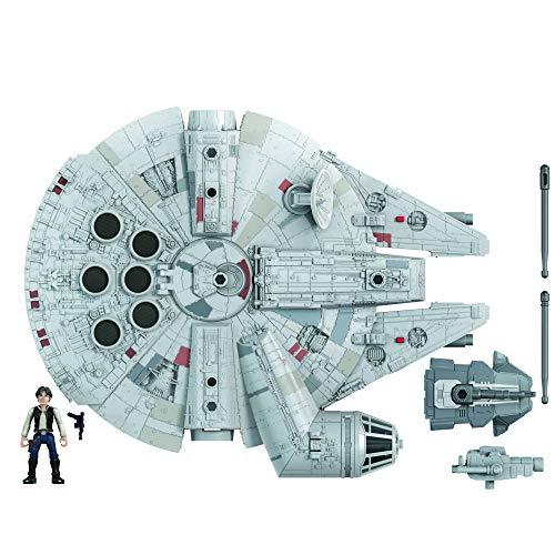 Figura y vehículo de Star Wars Mission Fleet Han Solo Millennium Falcon a escala de 2,5 pulgadas, juguetes para niños a partir de 4 años