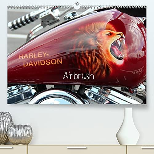 Harley Davidson - Airbrush (Premium, hochwertiger DIN A2 Wandkalender 2021, Kunstdruck in Hochglanz)