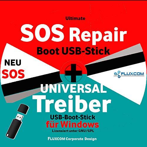 SOS Recovery & Repair & Treiber USB Boot Stick für Windows 10 & 7 & 8 + XP, das Original