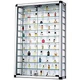 Pureday Escaparate Colectivo de Aluminio y Vidrio con Cerradura 60 x 89 cm