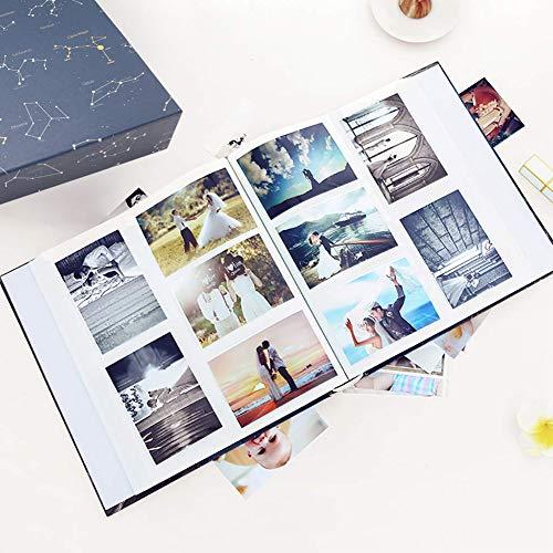 ZZKOKO Photo Album 4x6, 800 Photos Large Baby Kids Family Photo Albums, 5 Per Page Blue Album Wedding Gift Valentines Day Present
