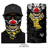 HHTCST Magic Scarf - 3 Pcs/Set Skull Mask Ciclismo Ski Headwear Neck Gaiter Sport Bandanas Pasamontañas A Prueba De Viento PL180794