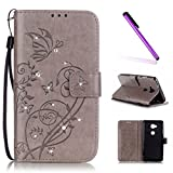 EMAXELERS Huawei Honor 5X Coque Gaufrage Trèfle Flip Wallet Case Portefeuille PU Housse Swag Case Cover Coquille Coque avec...