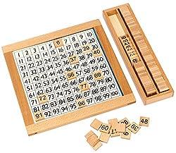 モンテッソーリ 教具 100並べセット 数字 おもちゃ 知育玩具 すうじ100 算数 ブロック 木製 パズル 数字盤 100 積み木 算数 学習 おもちゃ 数 知育 モンテッソーリ おもちゃ 6歳 幼児 子供 足し算 引き算 算数 教具 すうじ盤100