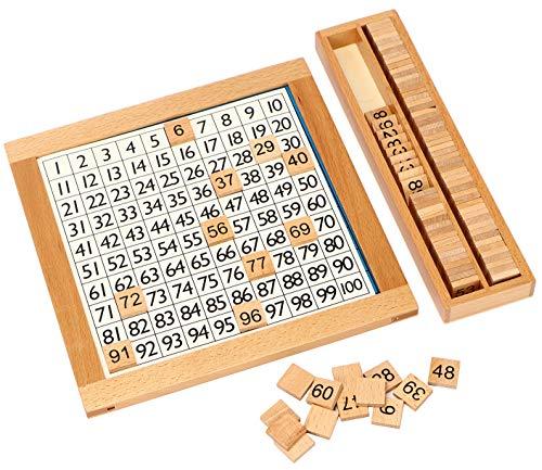モンテッソーリ教具 教材 100並べセット 木製 算数 学習 おもちゃ 勉強 知育玩具 幼児早期教育 おもちゃ