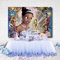 スタジオ写真youtube プリンセスとカエルのテーマティアナ姫の誕生日パーティー シームレスな背景写真 生まれたばかりの赤ちゃんのシャワー暗い顔色図 背景折りたたみビニール カートゥーン