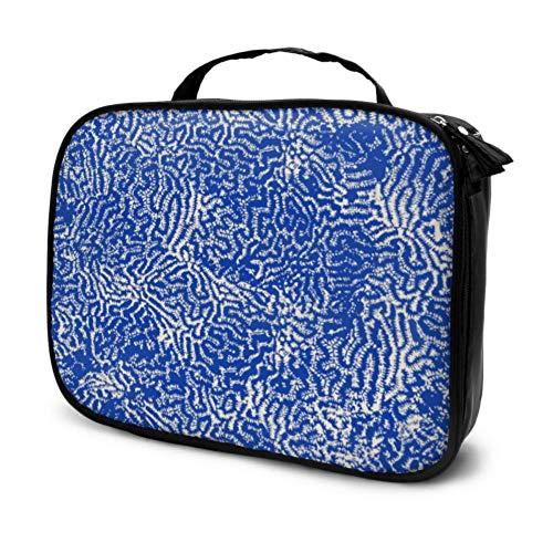 Beau Bleu Corail dans la mer Voyage Zip Sac cosmétique Sacs cosmétiques Femmes Solide Trousse de Toilette Multifonction imprimé Pochette pour Les Femmes