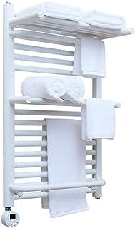 NOSSON Toallero Eléctrico De Pared Radiador De Baño 400 W 65 * 45 * 24 Cm Blanco Acero con Poco Carbono + Termostato Calentador De Toallas