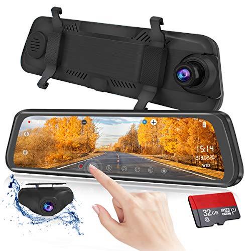 Mirror Dash Cam 9.88 inch Full Touch Screen Car...