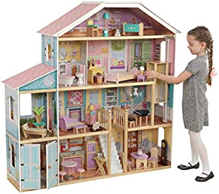 Puppenhäuser Girls Fantasy House New. KidKraft Shimmer Mansion With 30 Pieces Of Accessories