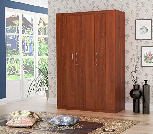 STYLESPA Estilo Particle Board Engineered Wood 3 Door Wardrobe (Brown, Siena Cherry)
