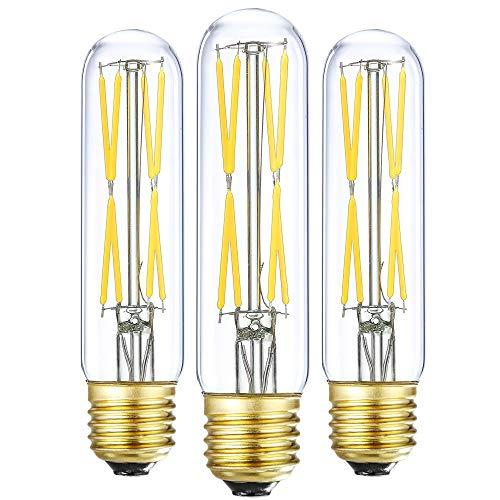 foco LED T10 de 8 W regulable, bombillas tubulares LED de 75 a 100 W, equivalente a foco incandescente de 4000 K, luz de día, 850 lm, vidrio transparente, foco de base E26, para...