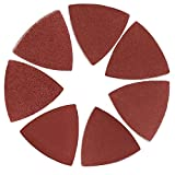 70 Pcs Multitool Sanding Pads for Oscillating Tool Triangle Sandpaper fit 3-1/8 inch Oscillating Saw 80mm Wood...