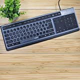 Lapogy Silicone Desktop Computer Keyboard Cover,Ultra-Thin Protection Skin Protector Cover for PC 104/107 Keys Standard Keyboard,Desktop Computer 104/107 Keys Accessories,Black
