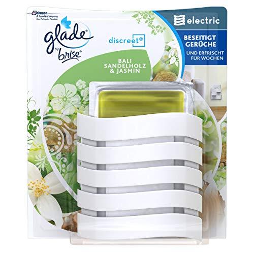 Glade (Brise) Discreet Electric Original (inkl. Nachfüller) elektrischer Duftstecker, ideal für kleine Räume, Sensual Sandalwood & Jasmine (Bali Sandelholz und Jasmin), 1er Pack (1 x 8 g)