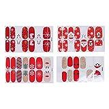 Frcolor Adhesivos de uñas de navidad Nail Art Tip Stickers Stickers Decoration for Women Girls 4pcs