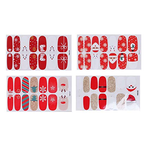 Frcolor Adhesivos de uñas de navidad Nail Art Tip Stickers Stickers Decoration for Women Girls 4pcs
