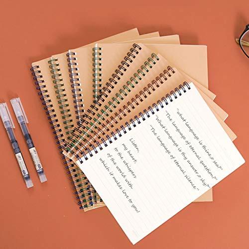 LLKK Diario,Cuaderno,Bobina de Cuaderno Kraft eficaz,Libro en Espiral para Estudiantes (4 Libros,8 Libros)