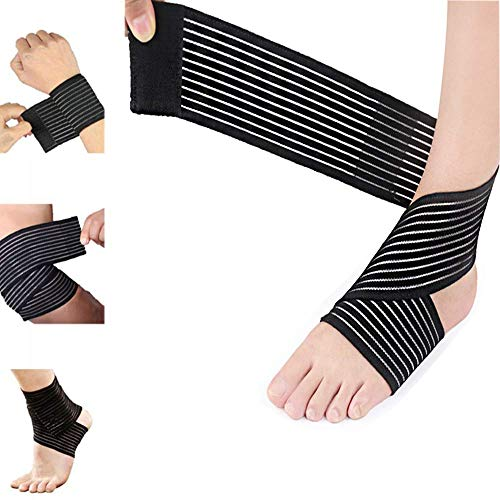Elastic Knee Brace Compression Bandage Wrap Support for Legs, Plantar Fasciitis, Stabilising Ligaments, Joint Pain, Swelling Sprains, Squat, Basketball, Running, Tennis, Soccer, Football, Injury
