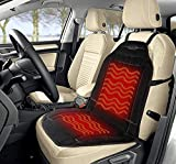 Sojoy Warm Plush Car Seat Cover with Smart Temperature and Timing Switch for Cold Days (Black)