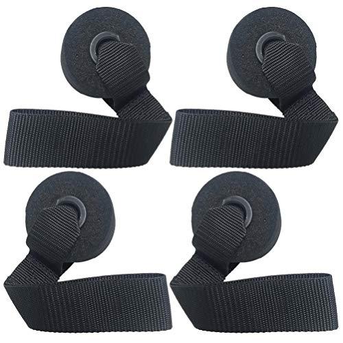 CLISPEED 4 Piezas de Anclajes de Puerta Banda de Resistencia sobre Anclajes de Puerta Tirar de La Cuerda Hebillas de Puerta Accesorios de Equipos de Fitness para Oficina en Casa (Negro)