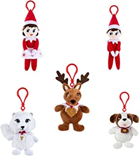 The Elf on the Shelf Plushee Pals Mini Clip-On (5 Pack, One of Each Character)