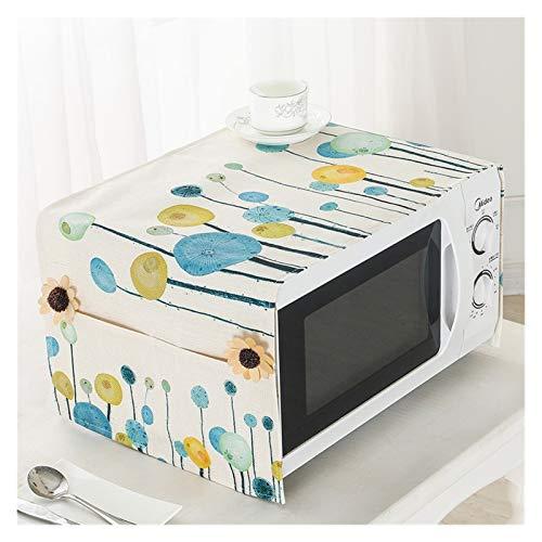 JINAN Housse de protection pour micro-ondes en coton et lin avec 2 poches anti-poussière - Résistante à l'huile - Étanche - Décoration d'intérieur (couleur : 15, dimensions : 35 x 100 cm)