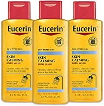 Eucerin Skin Calming Body Wash - Cleanses and Calms to Help Prevent Dry, Itchy Skin - 8.4 fl. oz. Bottle (Pack of 3)
