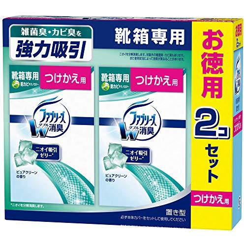 ファブリーズ 消臭芳香剤 靴箱専用 置き型 ピュアクリーンの香り つけかえ用 130g×2個