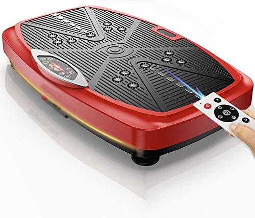 ZOUSHUAIDEDIAN Entrenamiento vibraciones de cuerpo entero Plataforma Vibratoria Máquinas Máquinas de ejercicios de fitness Plataforma de Entrenamiento en Casa Equipo de pérdida de peso de interior cas