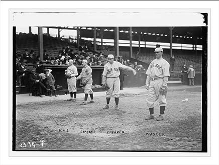 Newswire Photo (L): Duffy Lewis, Larry Gardner, Tris Speaker, Heinie Wagner, Boston AL (baseball)