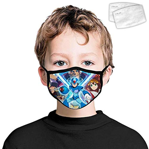 Unisex Mouth Face Cover Megaman X Legacy Collection Adjustable Balaclava Bandanas Face Scarf Windproof Headbands Mask for Boys