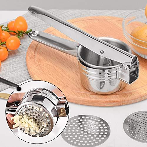 YORKING Edelstahl Kartoffelpresse Gemüse Stampfer Quetscher Nudelpresse Spaghetti Eispresse Maschine Manuelle Küchengeräte