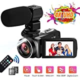 Videocamere 4K Videocamera Ultra HD 30MP 18X Zoom Digitale Camcorder Touch Screen Ruotabil...