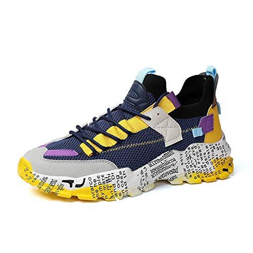 COOPCUP Zapatos de los hombres Primavera Casual Running Sneakers Hombre Calzado Comodidad Color brillante, color, talla 43 EU